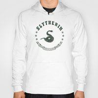 slytherin Hoodies featuring Slytherin House by Shelby Ticsay