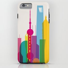 Shapes of Shanghai. Accurate to scale iPhone Case