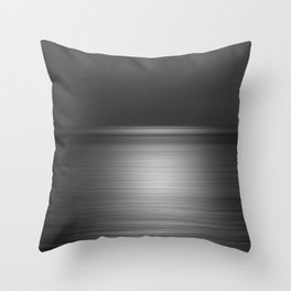 Sea at Sunset-Silver Throw Pillow