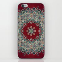 rug iPhone & iPod Skins featuring Mandala Nada Brahma  by Elias Zacarias