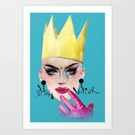 Queen Velour Art Print