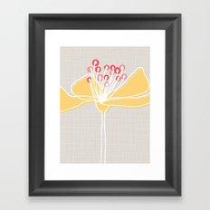 Cherry Blossom: Stone Framed Art Print