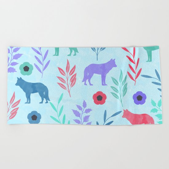 Forest Animal and Nature Beach Towel