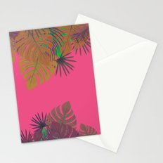 Tropical leaves 05 Stationery Cards