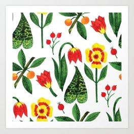 Botanic Watercolor Collection #19 Art Print
