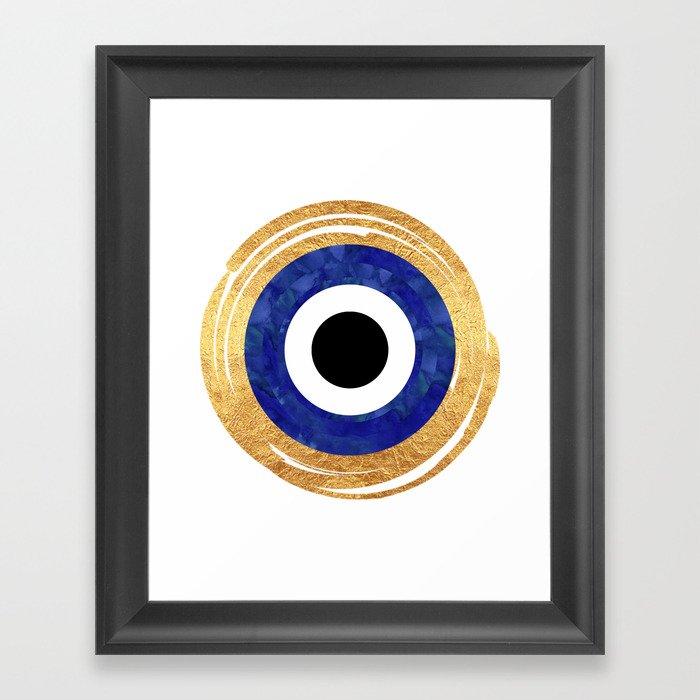 Modern Evil Eye Medallion Gerahmter Kunstdruck