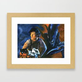 Ripley and the Alien Framed Art Print