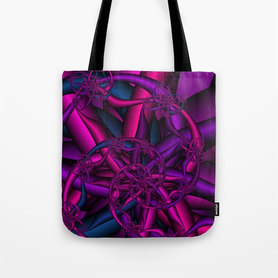 Pink Purple and Blue Tote Bag