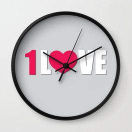 One Love Wall Clock