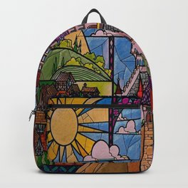 ROMANCE BEAUTY AND THE BEAST Castle Stained Glass Backpack