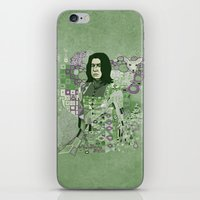 snape iPhone & iPod Skins featuring Portrait of a Potions Master by Karen Hallion Illustrations