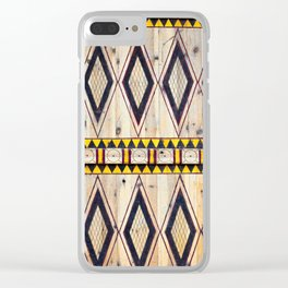Ushaiger Yellow Tribal Door Clear iPhone Case