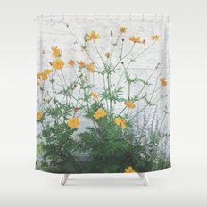 Yellow + Purple Shower Curtain