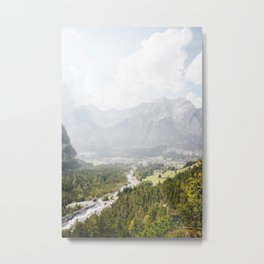 Photo of the view on the mountains of Kandersteg, The alps, Suisse/Switzerland | Fine Art Colorful Travel Photography |  Metal Print