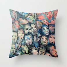 face, face, face Throw Pillow