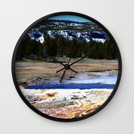 Castle Geyser-Yellowstone Wall Clock