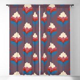 Retro fall florals- n. 2 Blackout Curtain