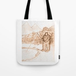 Springtime Bigfoot Tote Bag