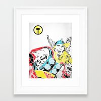 thor Framed Art Prints featuring Thor by Josh Ln