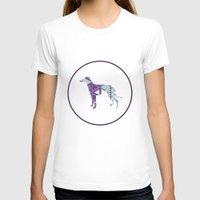 greyhound T-shirts featuring Greyhound Geometri by Simon Alenius
