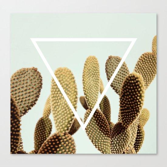 Cactus geometry Canvas Print