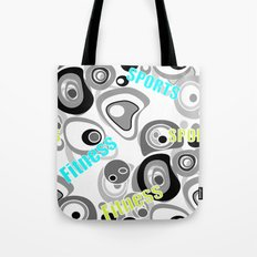 Abstract pattern . Sport . Fitness. Tote Bag
