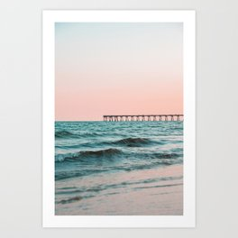 Beach Pier Sunrise Art Print