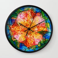 reassurance Wall Clocks featuring Flower III by Magdalena Hristova