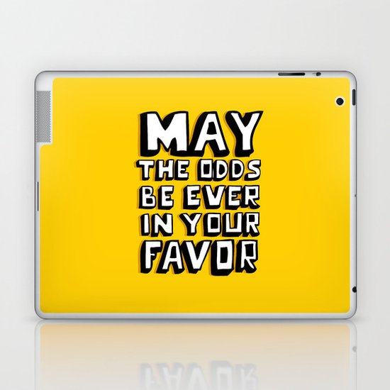 Happy Hunger Games! Laptop & iPad Skin