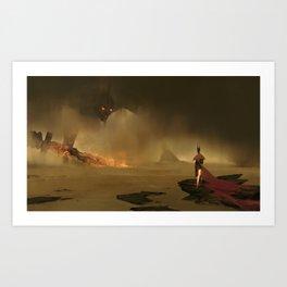 Hero vs Giant Art Print