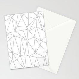 Geometric Cobweb (Gray & White Pattern) Stationery Cards