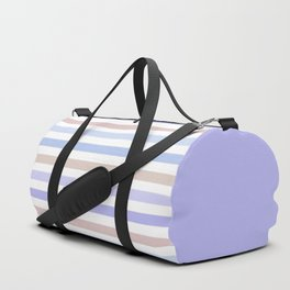 Striped pattern in pastel colours 2 Duffle Bag