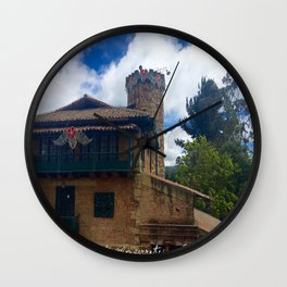 Mount Monserrate at Christmastime Maybe, Bogota, Colombia Wall Clock
