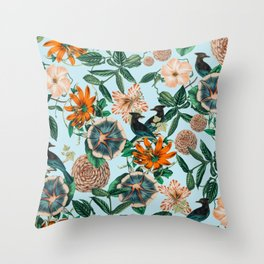Forest Birds #nature #tropical Throw Pillow