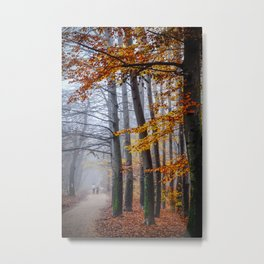 The last stroll in November Metal Print