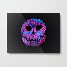Glow skull purple Metal Print