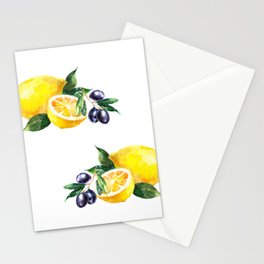 Lemons and Olives Mediterranean Foods Stationery Cards