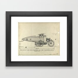 Flying Motorcycle Patent Framed Art Print