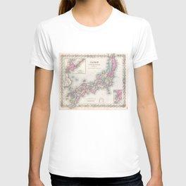 Vintage Map of Japan (1855) T-shirt