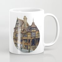 buildings Mugs featuring Buildings by Protogami