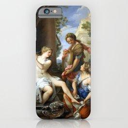 Giuseppe Bartolomeo Chiari Bathsheba at Her Bath iPhone Case