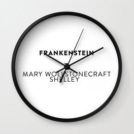 Frankenstein  —  Mary Wollstonecraft Shelley Wall Clock
