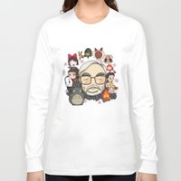 hayao miyazaki Long Sleeve T-shirts featuring Ghibli, Hayao Miyazaki and friends by KickPunch