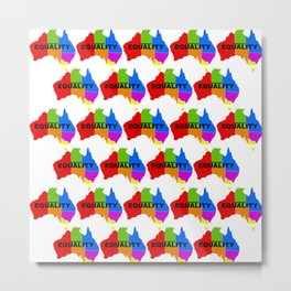 Marriage Equality - LGBT Australia - Vote Yes Metal Print