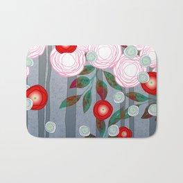 Flowers Summery Design Bath Mat