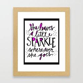 She Leaves a Little Sparkle Wherever She Goes Framed Art Print
