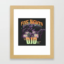 Long Nights with the DJD Framed Art Print