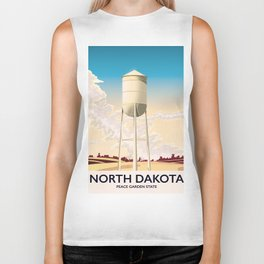 North Dakota Travel poster Biker Tank