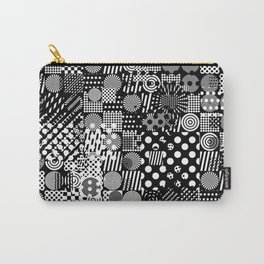Halftone Collage Carry-All Pouch