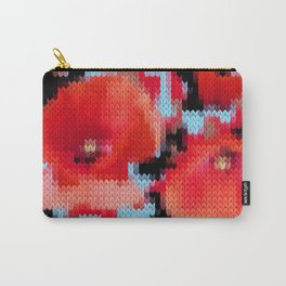 Knitting Poppies Carry-All Pouch
